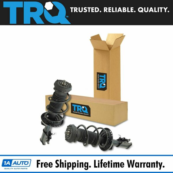 TRQ Front Loaded Quick Complete Strut Spring Assembly Driver Passenger Pair