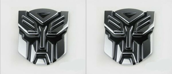 Set of 2 3D Logo Transformers Autobots Optimus Prime Self Adhesive Car Emblem 4