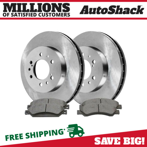 Front (2) Brake Rotors (4) Metallic Pads Fits 2005-2017 Chevrolet Silverado 1500