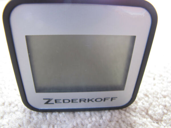 Zederkoff Digital Square HygrometerThermometer For Cigar Humidors - Silver-New