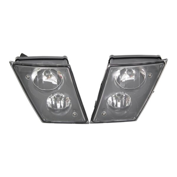 Volvo VNL VNM Driving Fog Lights Pair Black OE# 20737497 20737496 Dual Bulbs