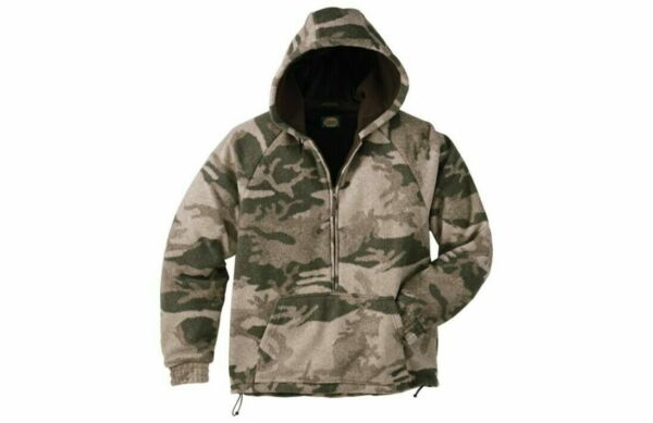 Cabela#x27;s Men#x27;s Outfitter Wooltimate Hooded Pullover 4MOST Hunting Camo Jacket