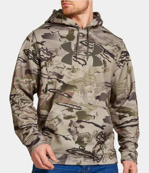 New With Tags Men#x27;s Under Armour Hunting Camo Hoodie Hooded Sweatshirt