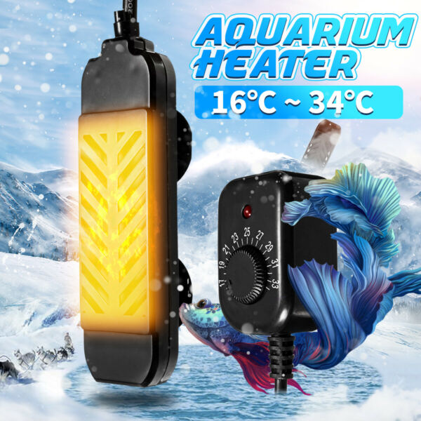 25 300W Mini Aquarium Heater Submersible Fish Tank Adjustable Water Thermostat $13.92