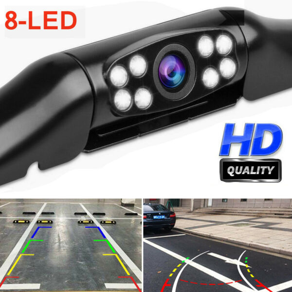 CMOS Car Rear View Reverse Backup Parking Camera HD Night Vision Waterproof 8LED