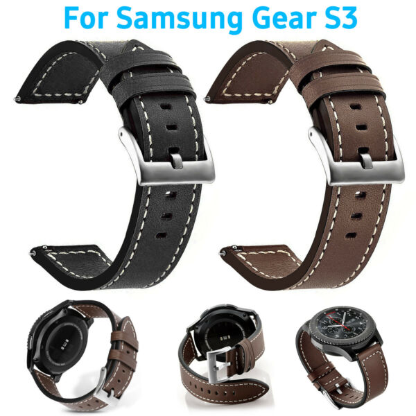 For Samsung Gear S3 Classic  Frontier Watch Genuine Leather Wrist Band Strap
