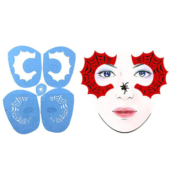 2 Sets Reusable Plastic Body Face Paint Stencil Tattoo Template Fancy Makeup