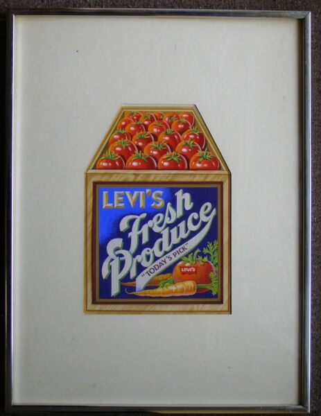 Original Art for a Levi's Advertisement.  Painting: