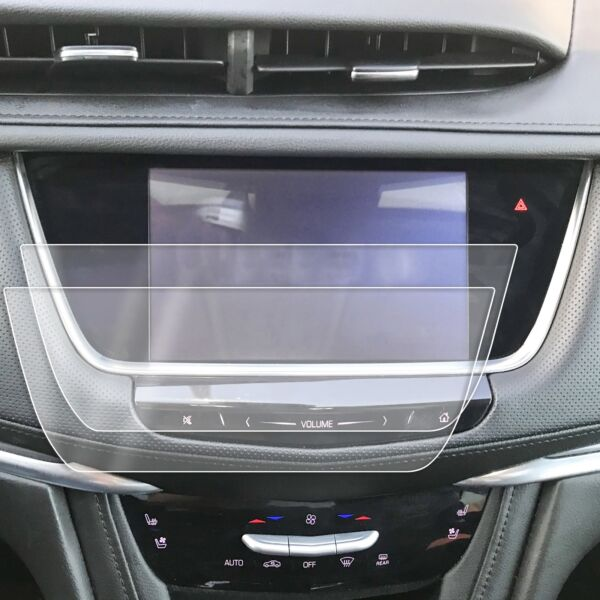 2) 2017-2018 Cadillac XT5 2pc Anti Scratch Touch Screen Saver Protector CUE 8