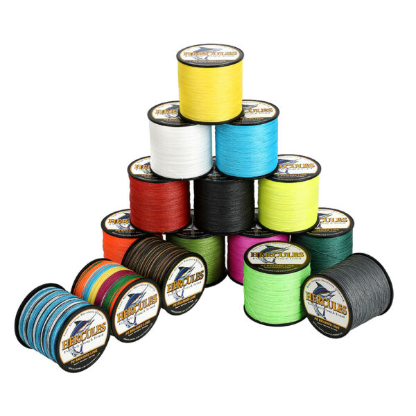 Hercules 1000M 1094 Yards Weave 6lb 100lb Test 4 Strands PE Braided Fishing Line