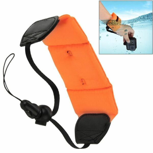 Waterproof Camera Go Pro Keys Sunglasses Float Strap Floating Wristband Orange