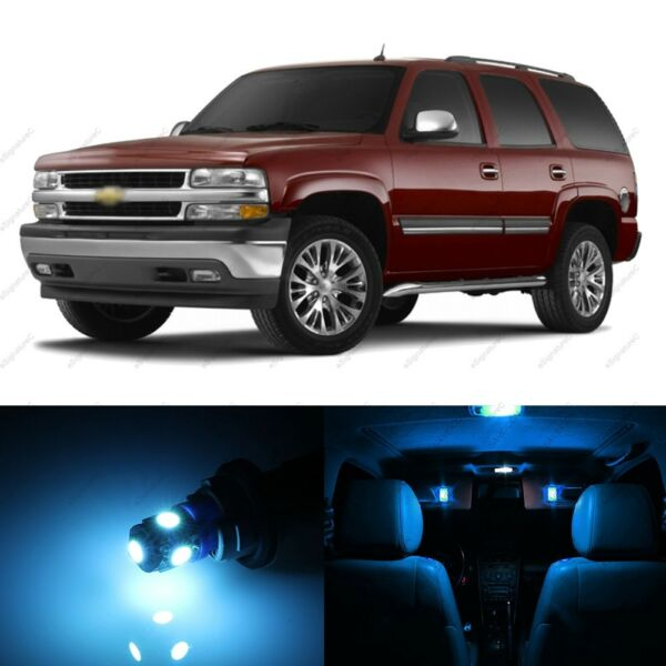 18 x ICE BLUE LED Interior Light Package For 2000 - 2006 Chevy Tahoe + PRY TOOL