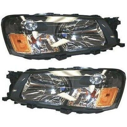 Headlight Set For 2003 2004 Subaru Forester Left and Right With Bulb 2Pc