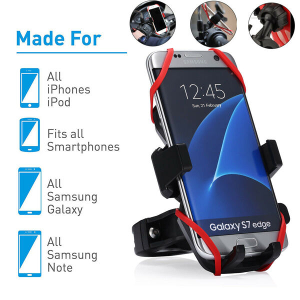Universal Motorcycle MTB Bicycle Handlebar Bike Mount Holder for Cell Phone GPS $7.43