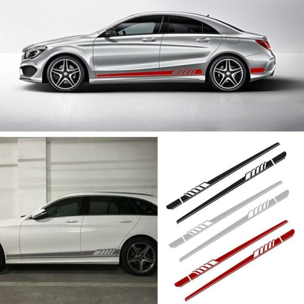 2pcs Car Auto Side Body Vinyl Decal Long Sport Stripe Sticker For Mercedes-Benz