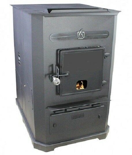 Forced-Air II (Two) Corn Wood Pellet Multi-fuel Furnace Stove 105000 BTUHr