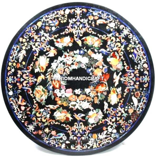 Marble Dining Top Table Multi Variety Floral Inlay Hallway Beautiful Decor H5046