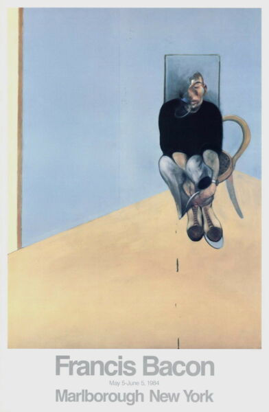 Seated Man Original 1984 Exhibition Poster Francis Bacon
