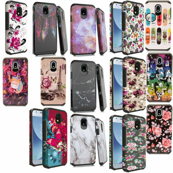 For Samsung Galaxy J3 2018 HARD Astronoot Hybrid Rubber Silicone Case Cover