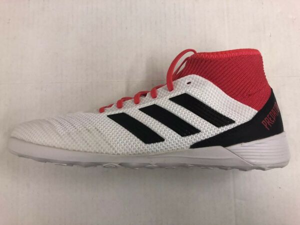 Adidas Predator Tango 18.3 Indoor Soccer Shoes 10.5 White/Black/Coral CP9929 New