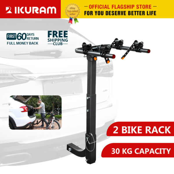 IKURAM 2 3 4 Bike Rack Bicycle Carrier Rear 2quot;Hitch Mount Rear Rack Foldable Car $99.99