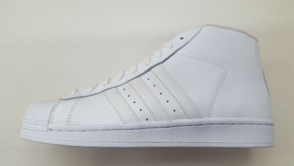 ADIDAS ORIGINALS PRO MODEL ALL WHITE LEATHER MENS SIZE SHOES SNEAKERS AQ5217