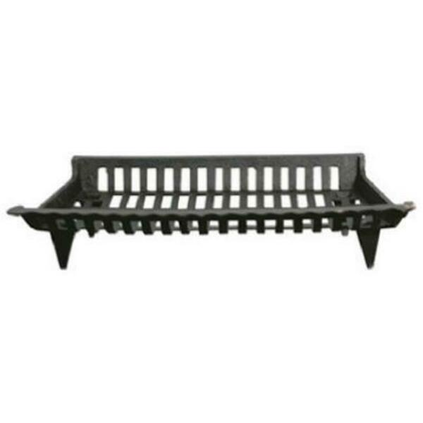 GHP CG30 30 in. Black Cast Iron Fireplace Grate