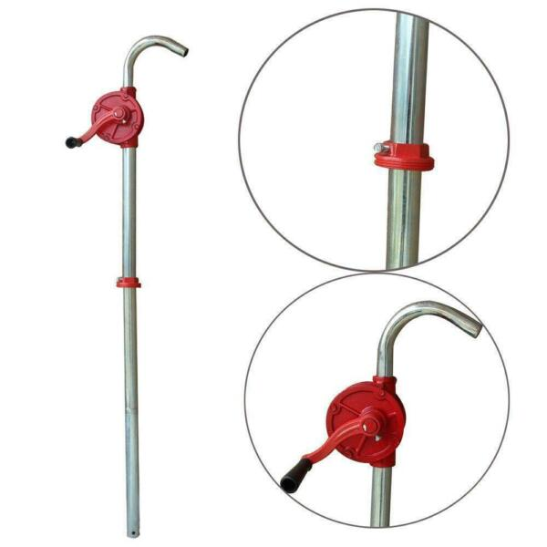 55 Gallon Manual Hand Crank Rotary Pump Oil Fuel Transfer Suctin Drum 50quot; Height $24.99