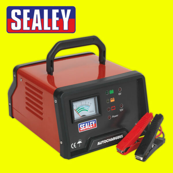 Sealey AUTOCHARGE6S Auto Maintenance High Frequency Battery Charger 612V 6Amp