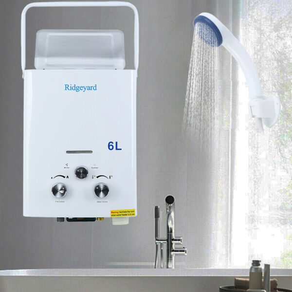 6L Portable Tankless Hot Water Heater Camper Propane Gas LPG Outdoor Boiler $58.70