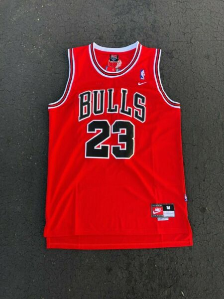 Michael Jordan #23 Red Chicago Bulls RedWhiteBlack Jersey Men NWT Brand New!!!