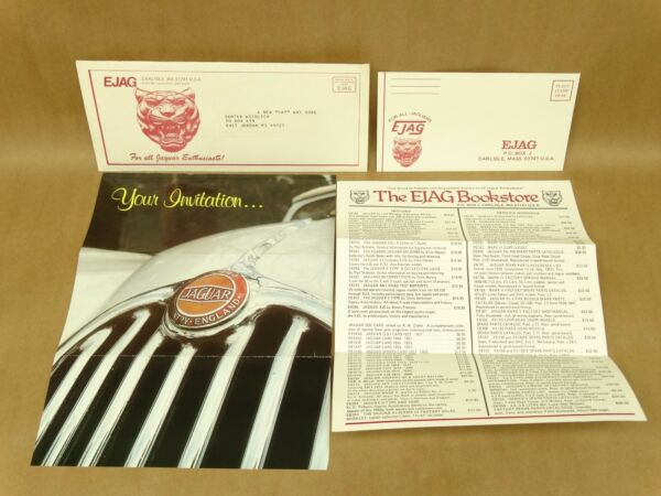 Vintage Ejag Jaguar News Magazine Invitation Envelope Order Subscribe Form