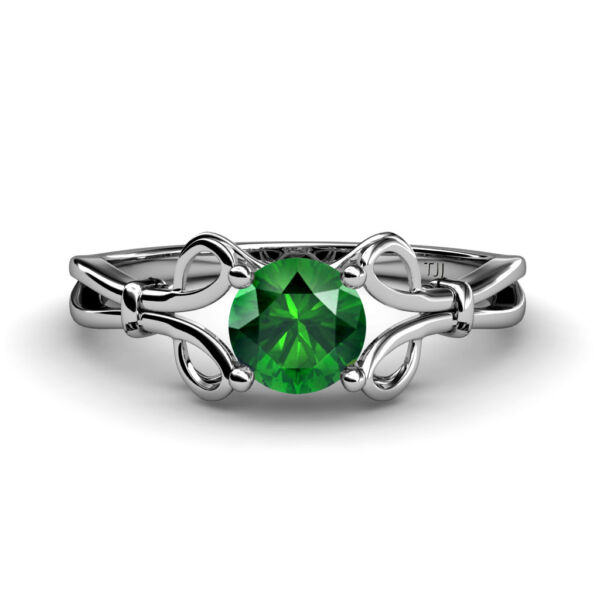 Emerald Womens Solitaire Engagement Ring 0.72 ct 925 Sterling Silver JP:34476