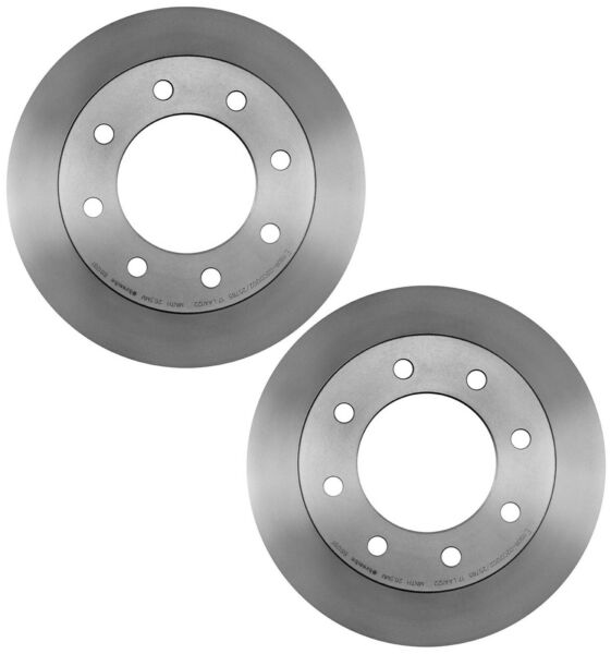 For Chevy Hummer Pair Set of 2 Rear Caoted Vented 330mm Brake Disc Rotors Brembo