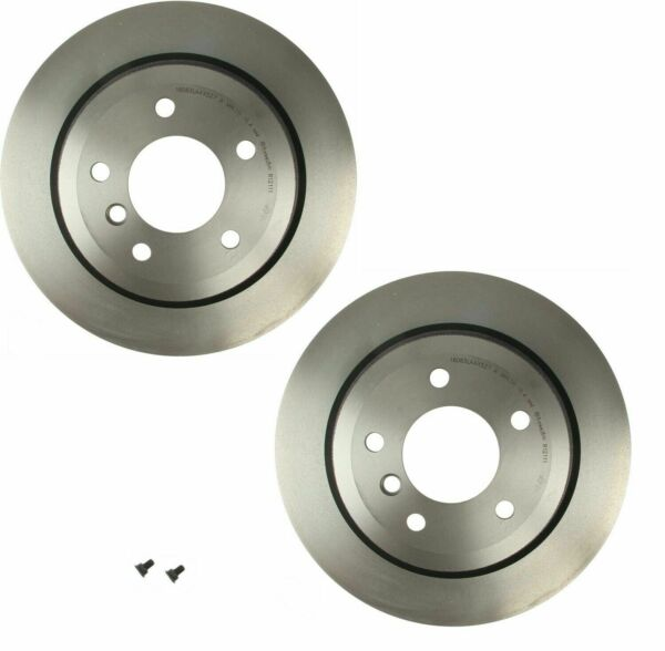 For BMW E89 Z4 Pair Set of 2 Rear Coat Vented 5 Lugs 300mm Disc Brake Rotors