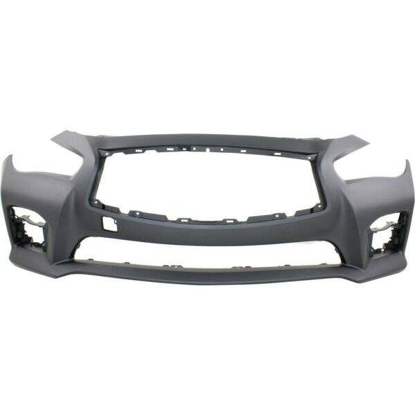 New Bumper Cover Facial Front for Infiniti Q50 2014 2017 IN1000258 620224HD0H $326.98