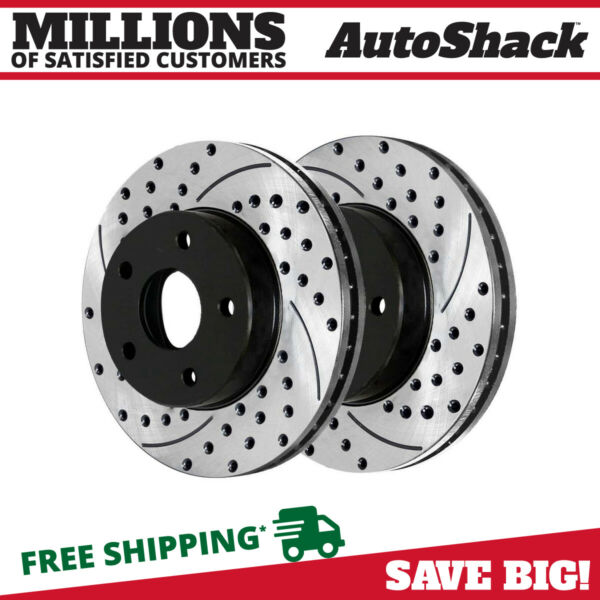 Front Performance Brake Rotors Pair (2) Fits 2006-2008 2009 2010 Ford Explorer