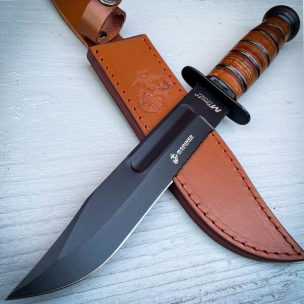 12quot; Military USMC Tactical Hunting Marines FIXED Blade Survival Bowie Knife