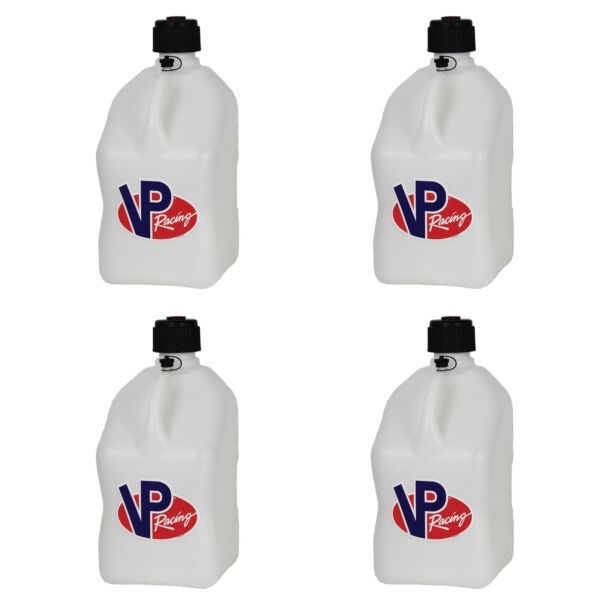 VP Racing 5 Gallon Motorsport Racing Fuel Utility Jug Gas Can White 4 Pack $115.00