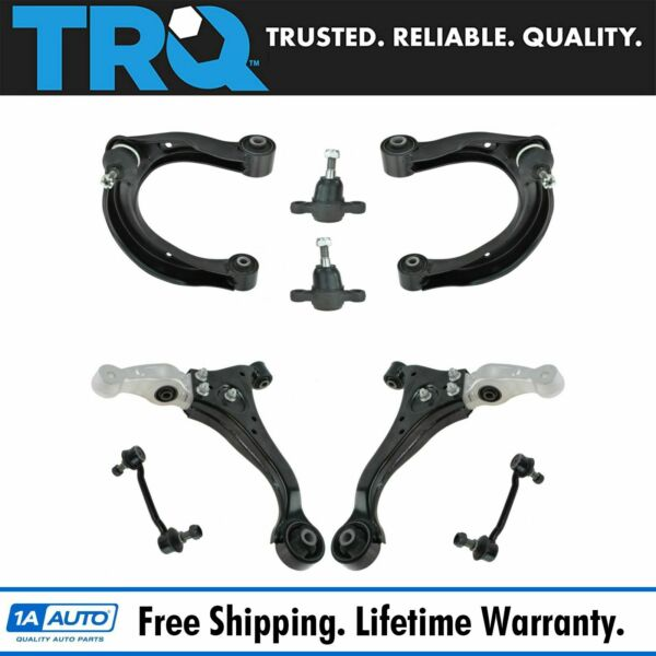 TRQ Front Upper Lower Control Arm Ball Joint Sway Link Suspension Kit Set 8pc