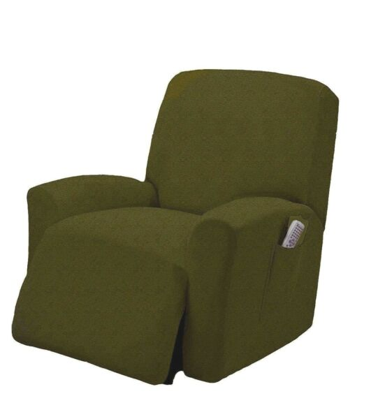 Spandex Pique Stretch Form Fit Recliner Chair Lazy Boy Cover Slipcover Green $26.99