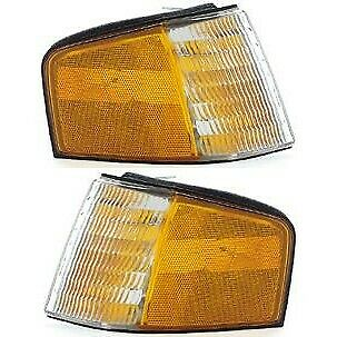 New Set of 2 Corner Lights Lamps Driver & Passenger Side LH RH Ford Tempo Pair
