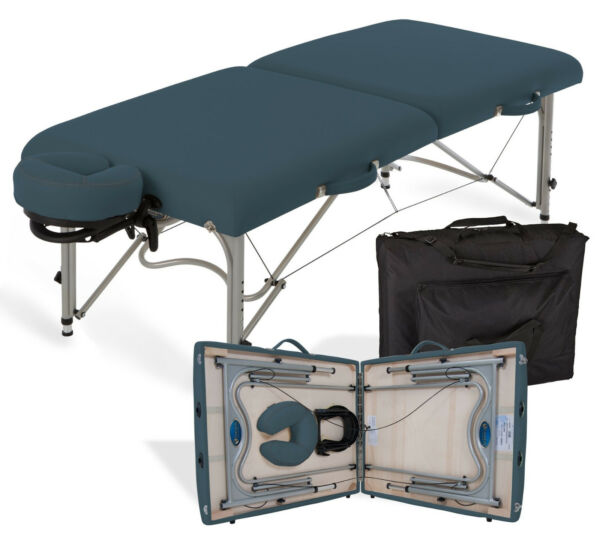 Earthlite Luna Portable Lightweight Massage Table Package w Headrest
