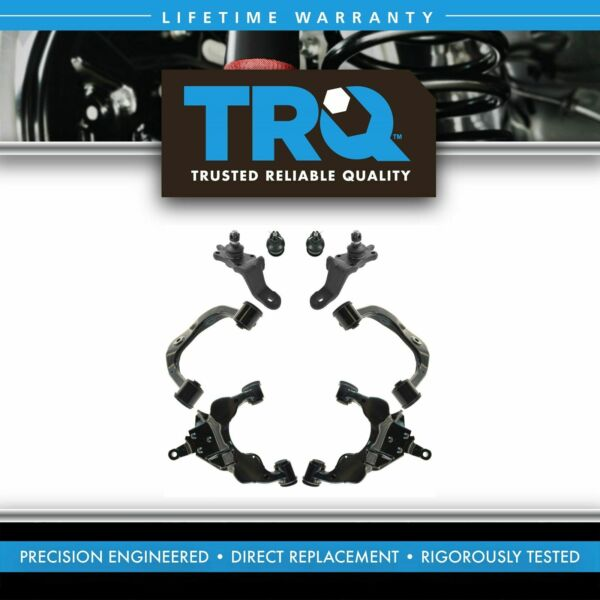 TRQ Front Suspension Kit Front Upper Lower Control Arm Ball Joint 8pc for Toyota