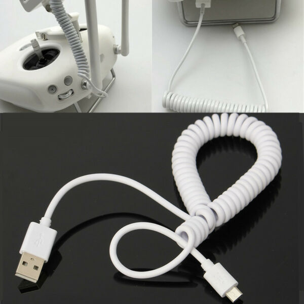 Android Elastic USB For the DJI Inspire 1 or Phantom 3 Spring Resilient White