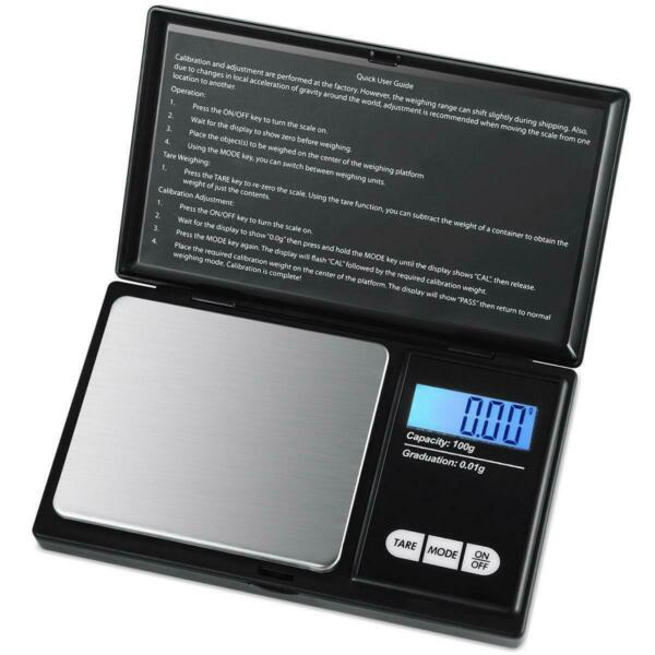 Pocket Mini Digital Scale 100g x 0.01g Backlit LCD Jewelry Gold Weight Scales