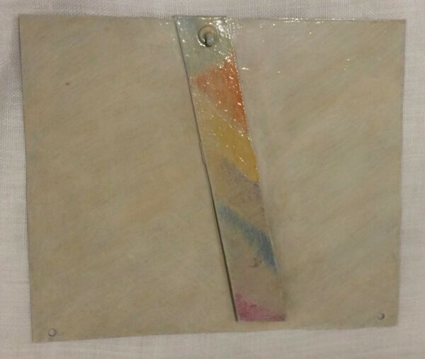 TOM HOLLAND California Artist Abstract Small Format epoxy aluminum 1977 signed