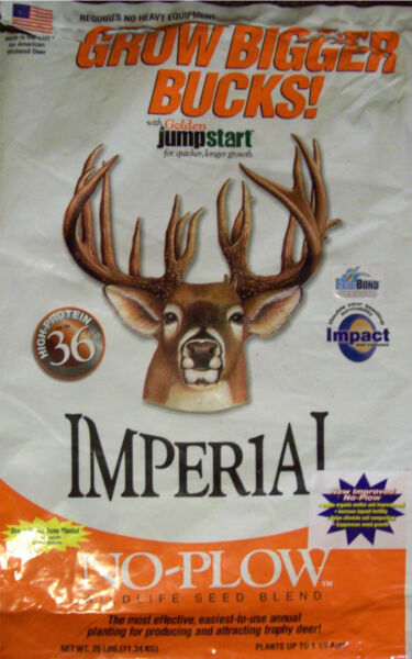 DEER & TURKEY 4 lb Whitetail Institute IMPERIAL NO PLOW Seeds CLOVER PLOT SEED