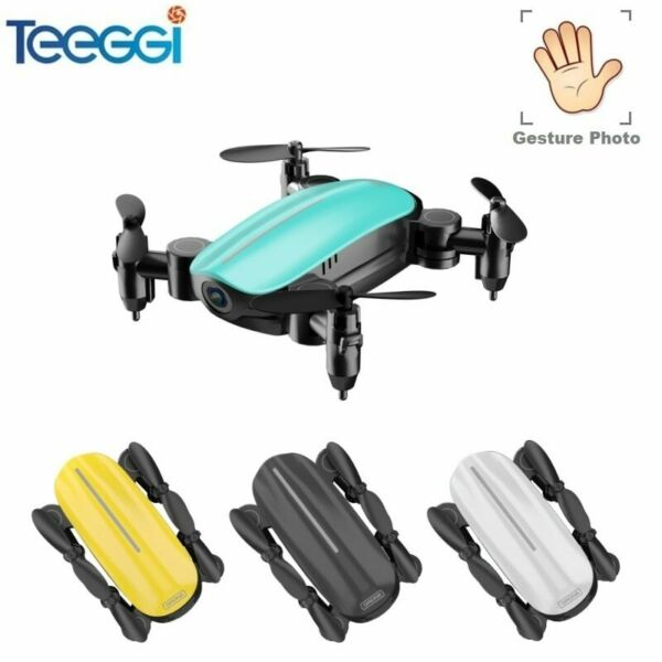 Teeggi T10 Mini Drone with Camera HD Foldable WiFi FPV RC Quadcopter Headles