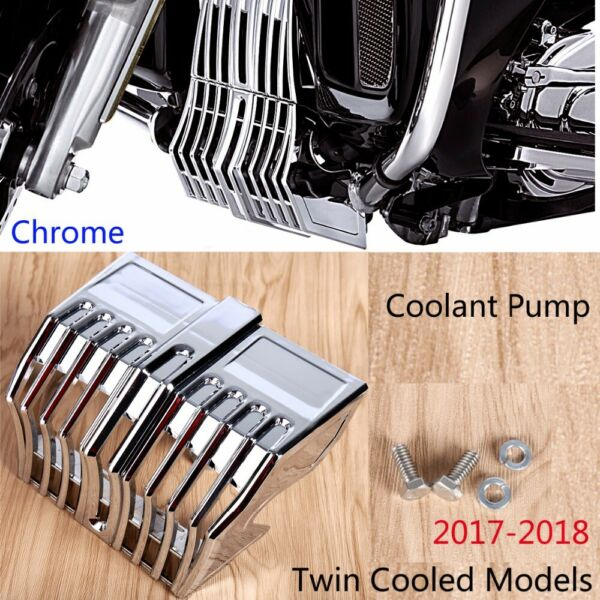 Chrome Precision Coolant Pump Cover Trim Accent For Harley Street Glide 2017-18